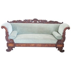 19th Century Carved Walnut Charles X Antique Settee