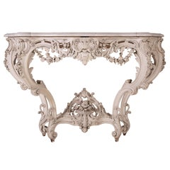 19th Century Carved Wood Console