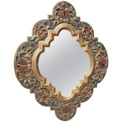19th Century Carved Wood Gothic Style Mirror