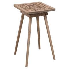 Antique Bleached Pedestal Table