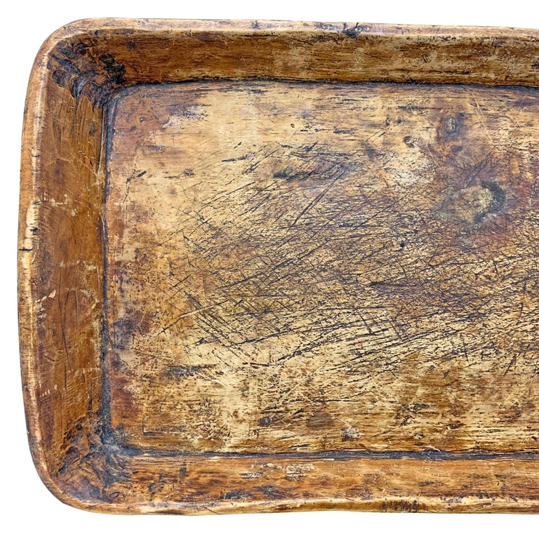19th Century Carved Wood Tray In Good Condition For Sale In Chicago, IL