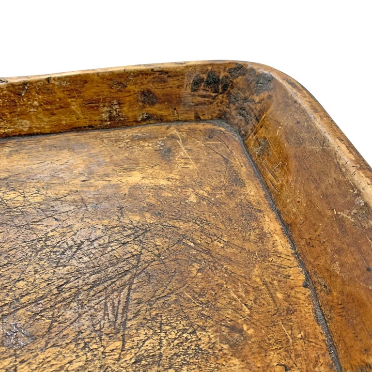 19th Century Carved Wood Tray For Sale 1