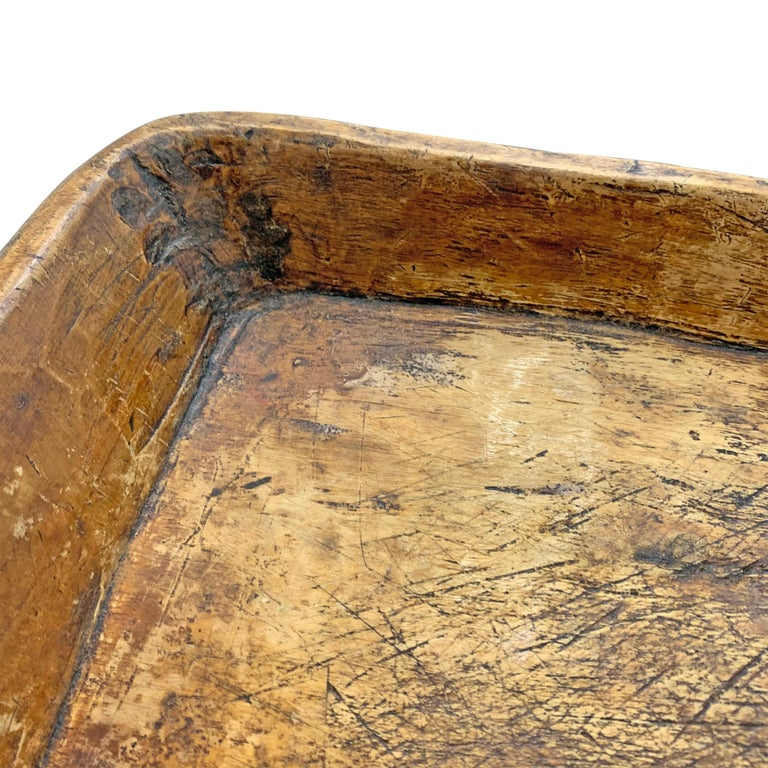 19th Century Carved Wood Tray For Sale 2