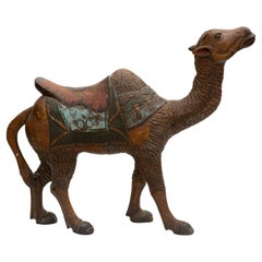 19th Century Carved Wooden Carousal Camel