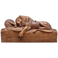 19th Century Carving of the Lion of Lucerne