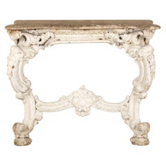 19th Century Cast Iron and Marble Console Table by James Yates