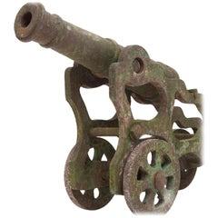 19th Century Victorian Cast Iron Cannons, Garden Ornament