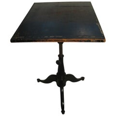19th Century Cast Iron Drafting Table Standup Desk
