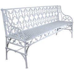 19th Century Cast Iron Garden Bench by Val D'osne