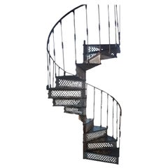 19th Century Cast Iron Spiral Staircase