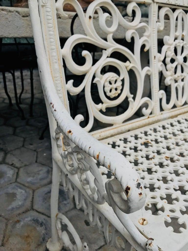 19th Century Cast Iron Victorian Style Garden Bench