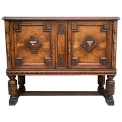 19th Century Catalan Spanish Buffet with Two Doors