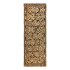 19th Century Caucasian Karabagh Beige and Brown Hand Knotted Wool Carpet