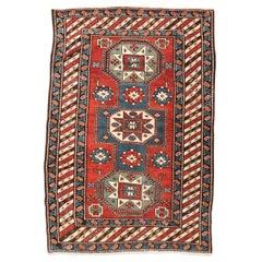19th Century Caucasian Rug, Kazak, Geometric Design, circa 1875-1900