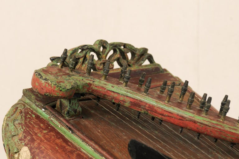 Carved 19th Century Celempung Musical Instrument from Java, Indonesia For Sale