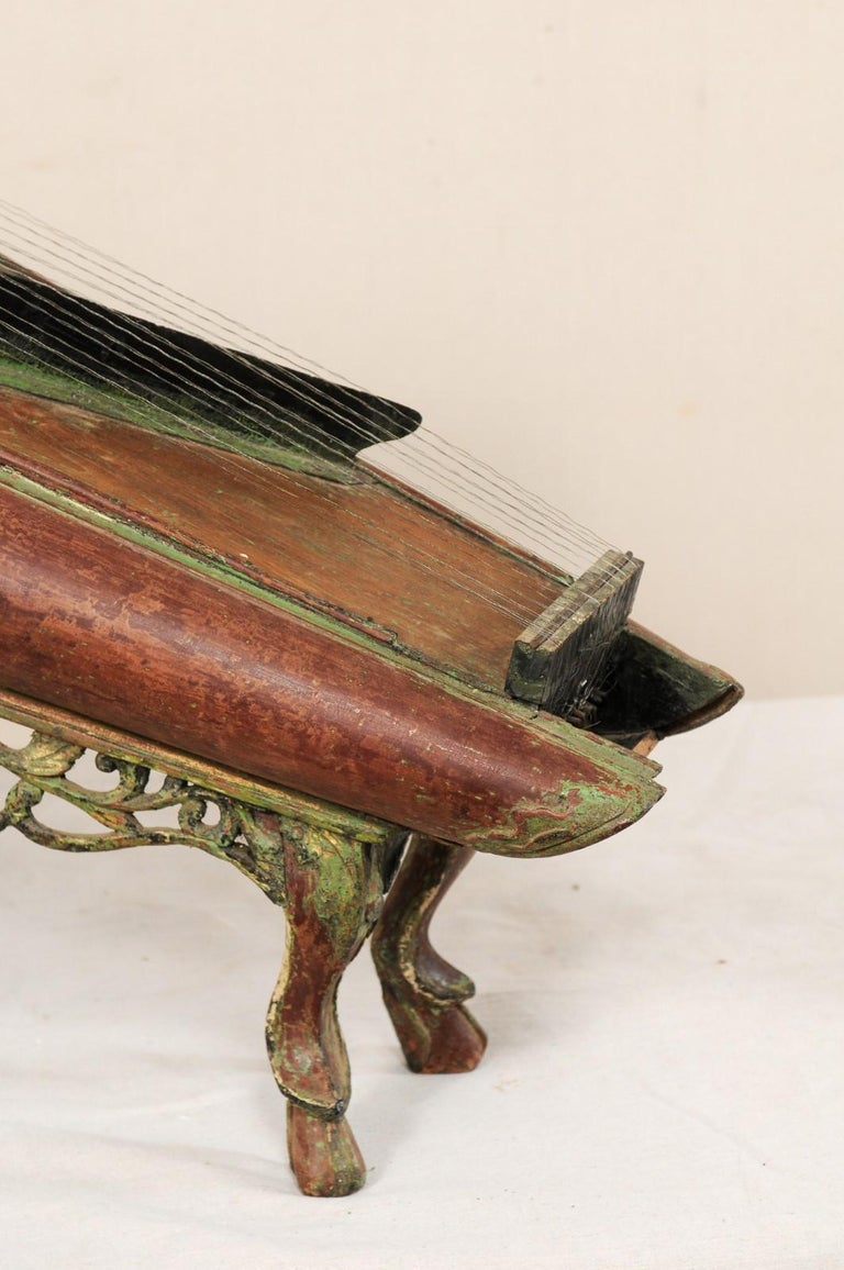 19th Century Celempung Musical Instrument from Java, Indonesia In Good Condition For Sale In Atlanta, GA