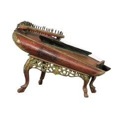 19th Century Celempung Musical Instrument from Java, Indonesia