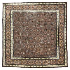 19th Century Central Asian Khotan Samarkand Handwoven Wool Carpet