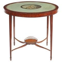 19th Century Centre Table Incorporating an Earlier Papier-Maché Panel