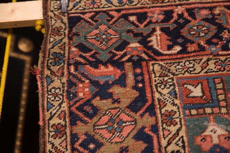 19th Century Beautiful Antique Heriz Rug For Sale 4