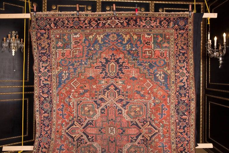 Beautiful  Antique rare Heriz carpet.
