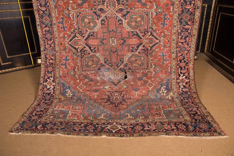 Heriz Serapi 19th Century Beautiful Antique Heriz Rug For Sale