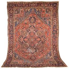 19th Century Beautiful Antique Heriz Rug