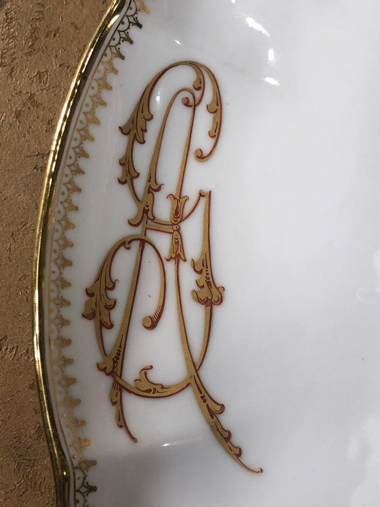 19th Century Ceramic Ginori Dinnerware Set Consisting of 102 Pieces, 1880s For Sale 6