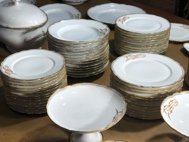 Late 19th Century 19th Century Ceramic Ginori Dinnerware Set Consisting of 102 Pieces, 1880s For Sale