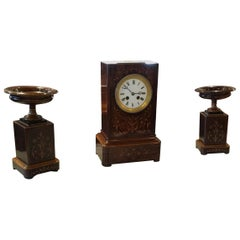 19th Century Charles X Rosewood Clock
