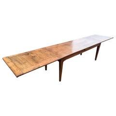 19th Century Cherry Double Extending Table