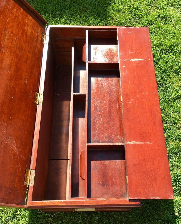 Victorian 19th Century Cherry Raised Panel Artisan's Tool Chest For Sale