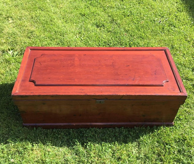 19th Century Cherry Raised Panel Artisan's Tool Chest In Excellent Condition For Sale In Nantucket, MA