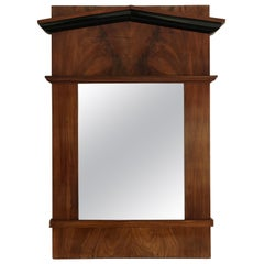 19th Century Cherry Veneer Biedermeier Mirror