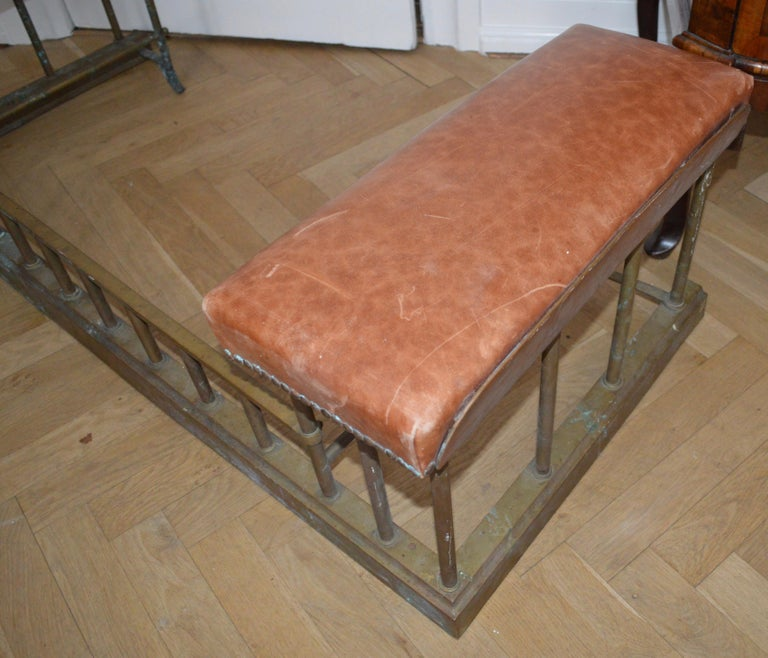 19th Century Chesterfield Brass Fire Fender For Sale 5