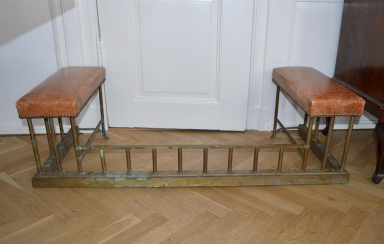 19th Century Chesterfield Brass Fire Fender For Sale 6