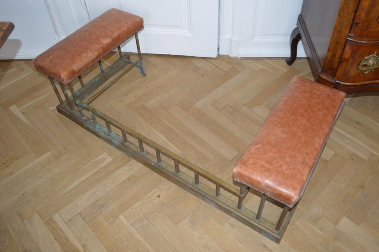 19th Century Chesterfield Brass Fire Fender For Sale 4