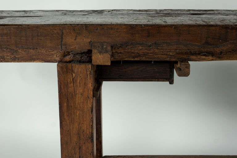 19th Century Chestnut Workbench Console For Sale 15