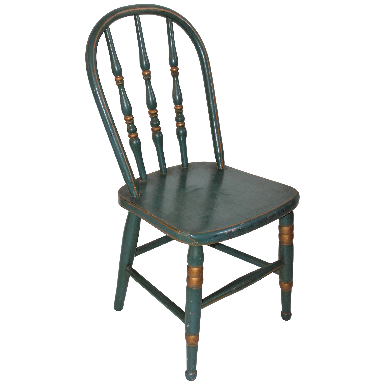 19th Century Children's Painted Chair