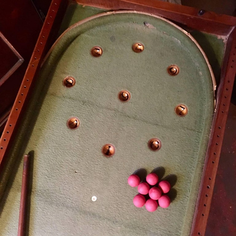19th Century Child's Mahogany Bagatelle Table, circa 1840 In Good Condition For Sale In Nantucket, MA