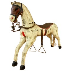 19th Century Childs Painted Wood Carousel Horse
