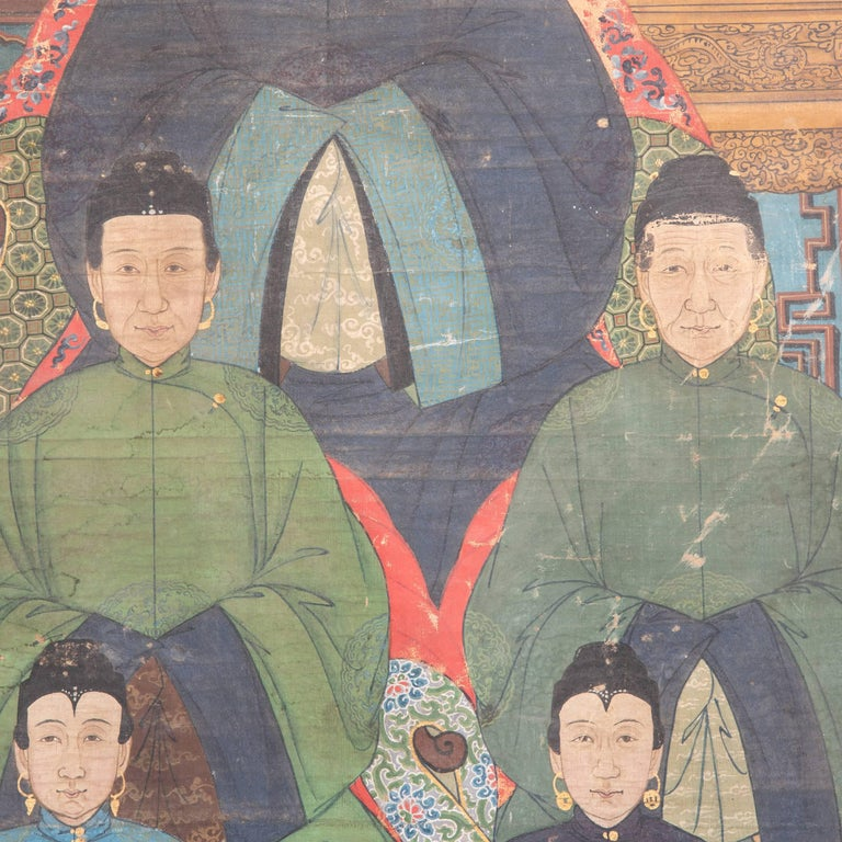 Canvas 19th Century Chinese Ancestral Painting For Sale