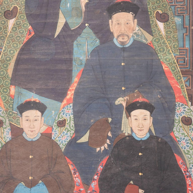 19th Century Chinese Ancestral Painting For Sale 1