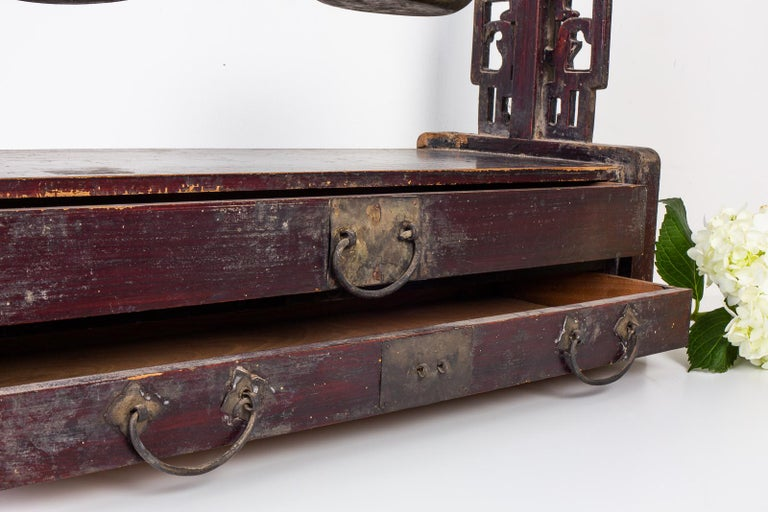 19th Century Chinese Apothecary Balance Scale Stand For Sale 4