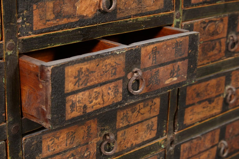 19th Century Chinese Apothecary Cabinet In Good Condition For Sale In New York, NY
