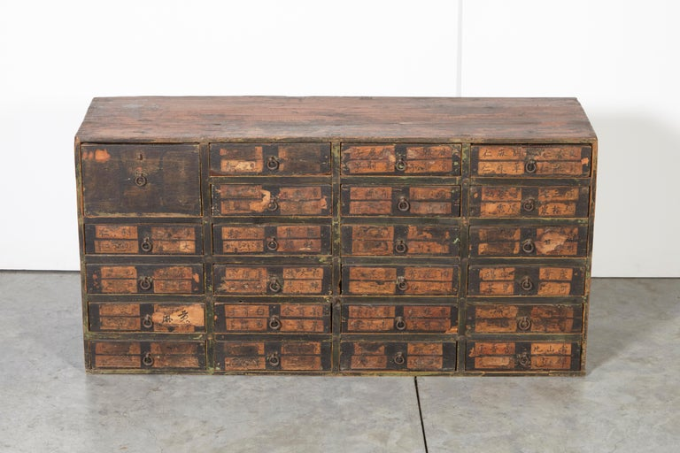 Wood 19th Century Chinese Apothecary Cabinet For Sale