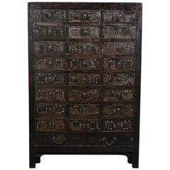 19th Century Chinese Apothecary Cabinet with Drawers