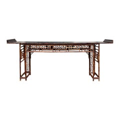 19th Century Chinese Bamboo Altar Table / Console