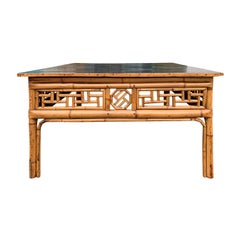 19th Century Chinese Bamboo Square Coffee Table