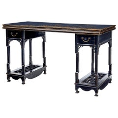 19th Century Chinese Black Lacquered Desk